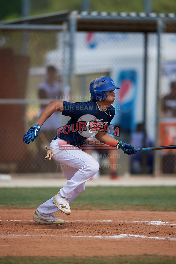 Amari Bartee during the WWBA World Championship at the Roger Dean Complex on October 21, 2018 in Jupiter, Florida.  Amari Bartee is an outfielder from Sun City, Arizona who attends Sandra Day O'Connor High School.  (Mike Janes/Four Seam Images)