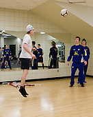 ?, Jonathan Johansson (Sweden - 21), Calle Klingberg (Sweden - 17) - Members of Team Sweden worked out at the Urban Plains Center in Fargo, North Dakota, on Friday, April 17, 2009, during the 2009 World Under 18 Championship.