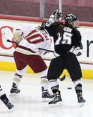 Maggie Taverna (Boston College - 10), Kate Bacon (Providence - 15) - The Providence College Friars and Boston College Eagles tied at 1 on BC's senior night on Saturday, February 21, 2009, at Conte Forum in Chestnut Hill, Massachusetts.