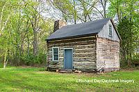63895-15807 63895-158.02 Cabin at Log Cabin Village in spring Kinmundy IL