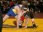 David Hall and Kevin Pembridge wrestle at the 103 weight class during the NY State Wrestling Championships at Blue Cross Arena on March 8, 2008 in Rochester, New York.  (Copyright Mike Janes Photography)