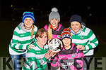 Ladies from Holy Cross Mercy NS who played a charity soccer game in Celtic Park to help raise funds for their sensory rooms in the school front row l-r: Mairead Kennedy, Michelle O'Brien, Katie O'Connor, Noreen O'Connor and  Kathleen Harnett