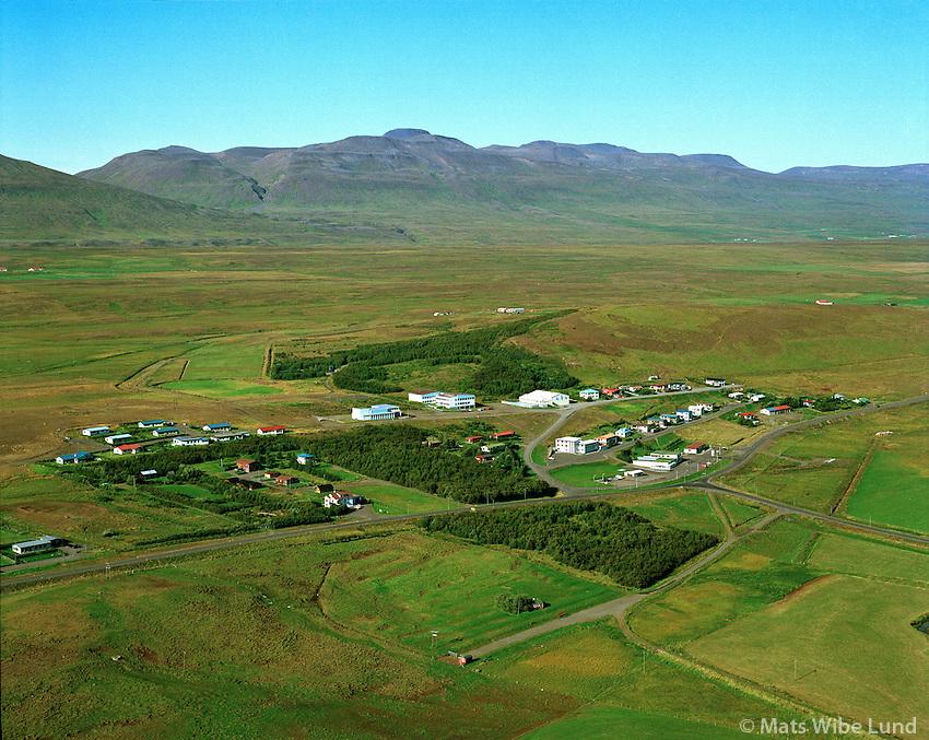 Varmahlíð, Seyluhreppur.Varmahlid viewing northwest, Seyluhreppur