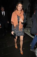 Annabel Croft out and about, spotted at the Annabel's restaurant, Annabel's, Berkeley Square, London, England, UK, on Tuesday 05th February 2019.<br /> CAP/CAN<br /> &copy;CAN/Capital Pictures