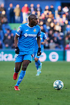 Allan-Romeo Nyom of Getafe FC during La Liga match between Getafe CF and Real Betis Balompie at Wanda Metropolitano Stadium in Madrid, Spain. January 26, 2020. (ALTERPHOTOS/A. Perez Meca)