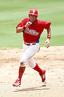 July 10, 2009:  First baseman Jakub Sladek (76) of the GCL Phillies during a game at Bright House Networks Field in Clearwater, FL.  The GCL Phillies are the Gulf Coast Rookie League affiliate of the Philadelphia Phillies.  Photo By Mike Janes/Four Seam Images