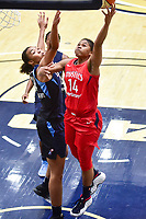 Washington, DC - September 2 2018: Washington Mystics guard Tierra Ruffin-Pratt (14) goes up for a layup during semifinals game against Atlanta Dream. Mystics even the series and force a deciding game 5 in Atlanta with a 97-76 win at the Charles Smith Center at George Washington University in Washington, DC. (Photo by Phil Peters/Media Images International)