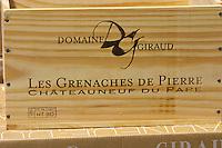 case of les grenaches de pierre domaine giraud chateauneuf du pape rhone france
