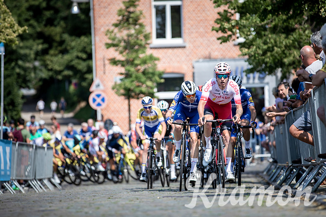 Zico Waeytens (BEL/Cofidis) leading the peloton on the uphill cobbles section in the 3th of 8 local laps. <br /> <br /> Heistse Pijl 2019<br /> One Day Race: Turnhout > Heist-op-den-Berg 194km (UCI 1.1)<br /> ©kramon