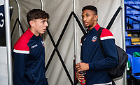 Bolton Wanderers' Callum King-Harmes and D'Neal Richards before the match<br /> <br /> Photographer Andrew Kearns/CameraSport<br /> <br /> EFL Leasing.com Trophy - Northern Section - Group F - Bolton Wanderers v Bradford City -  Tuesday 3rd September 2019 - University of Bolton Stadium - Bolton<br />  <br /> World Copyright © 2018 CameraSport. All rights reserved. 43 Linden Ave. Countesthorpe. Leicester. England. LE8 5PG - Tel: +44 (0) 116 277 4147 - admin@camerasport.com - www.camerasport.com