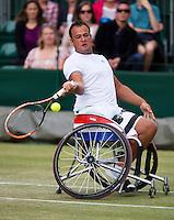July 5, 2014, United Kingdom, London, Tennis, Wimbledon, AELTC, Wheelchairtennis, Tom Egberink (NED)<br /> Photo: Tennisimages/Henk Koster