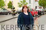Illegal parking : Cllr, Diane Nolan highlighting the illegal parking of cars in the Bus bays in Listowel Square.