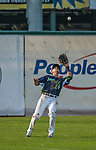 12 July 2015: Vermont Lake Monsters outfielder Steven Pallares in action against the West Virginia Black Bears at Centennial Field in Burlington, Vermont. The Lake Monsters came back from a 4-0 deficit to defeat the Black Bears 5-4 in NY Penn League action. Mandatory Credit: Ed Wolfstein Photo *** RAW Image File Available ****
