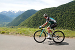 Cyril Gautier (FRA) Vital Concept-B&B Hotels enjoys the Pyrenees mountain scenery during Stage 3 of the Route d'Occitanie 2019, running 173km from Arreau to Luchon-Hospice de France, France. 22nd June 2019<br /> Picture: Colin Flockton | Cyclefile<br /> All photos usage must carry mandatory copyright credit (© Cyclefile | Colin Flockton)