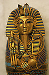 Coffinette for viscera, Tutankhamun; Exhibit; Catalog; New Kingdom; Egypt; Golden Age of the Pharaohs, Cover, Page 219