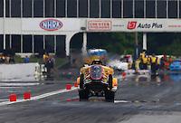 May 15, 2015; Commerce, GA, USA; NHRA wheelstander driver Danny O'Day during qualifying for the Southern Nationals at Atlanta Dragway. Mandatory Credit: Mark J. Rebilas-USA TODAY Sports