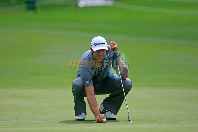 Dustin Johnson (USA) in action on the 8th green during the Pro-Am Day of the BMW International Open at Golf Club Munchen Eichenried, Germany, 22nd June 2011 (Photo Eoin Clarke/www.golffile.ie)