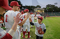 STANFORD, CA - February 16, 2018: Stanford Baseball vs Cal State Fullerton on Opening Day at Sunken Diamond.  Stanford won 5-1.