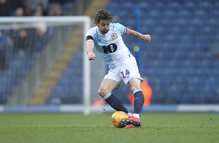 Blackburn Rovers Charlie Mulgrew<br /> <br /> Photographer Mick Walker/CameraSport<br /> <br /> The EFL Sky Bet Championship - Blackburn Rovers v Bristol City - Saturday 9th February 2019 - Ewood Park - Blackburn<br /> <br /> World Copyright © 2019 CameraSport. All rights reserved. 43 Linden Ave. Countesthorpe. Leicester. England. LE8 5PG - Tel: +44 (0) 116 277 4147 - admin@camerasport.com - www.camerasport.com