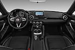 Stock photo of straight dashboard view of 2016 Fiat 124-Spider Lusso 2 Door Convertible Dashboard