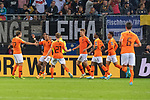 06.09.2019, Volksparkstadion, HAMBURG, GER, EMQ, Deutschland (GER) vs Niederlande (NED)<br /> <br /> DFB REGULATIONS PROHIBIT ANY USE OF PHOTOGRAPHS AS IMAGE SEQUENCES AND/OR QUASI-VIDEO.<br /> <br /> im Bild / picture shows<br /> <br /> Jubel Niederlande nach dem 1:2 durch Ryan BABEL (Niederlande / NED #09) <br /> <br /> während EM Qualifikations-Spiel Deutschland gegen Niederlande  in Hamburg am 07.09.2019, <br /> <br /> Foto © nordphoto / Kokenge