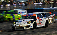 19 March 2011: The #068 Porsche of Dion von Moltke, Peter Ludwig, and Jim Norman leads a pack of cars during the 12 Hours of Sebring, Sebring Internatonal Raceway, Sebring, FL. (Photo by Brian Cleary/www.bcpix.com)