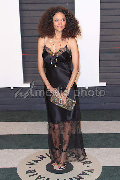 28 February 2016 - Beverly Hills, California - Thandie Newton. 2016 Vanity Fair Oscar Party hosted by Graydon Carter following the 88th Academy Awards held at the Wallis Annenberg Center for the Performing Arts. Photo Credit: AdMedia