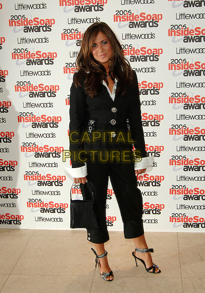 CIARA JANSON.Inside Soap Awards 2006, Floridita,.London, England, September 25th 2006..full length jansen black jacket bag cropped trousers.Ref: PL.www.capitalpictures.com.sales@capitalpictures.com.©Phil Loftus/Capital Pictures
