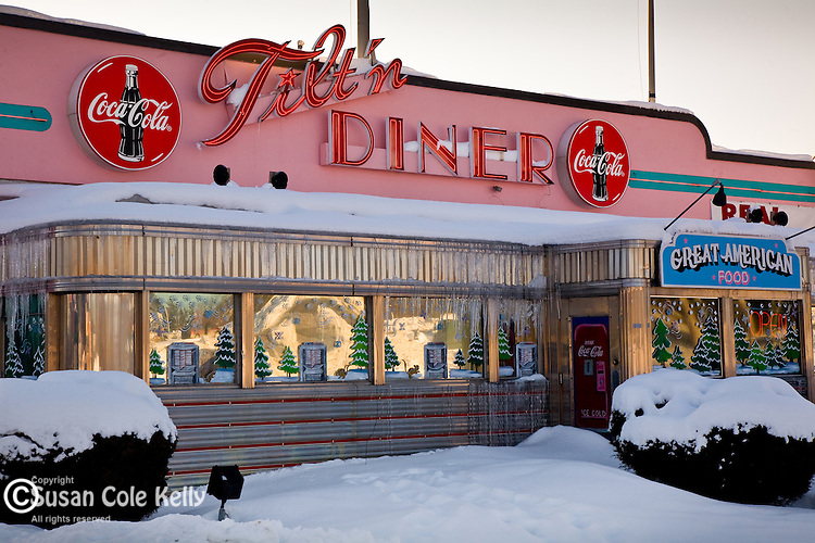 The Tilt'n Diner in Tilton, Lakes Region, NH, USA