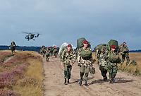 British Parachutists on the 50th anniversary of the Battle of Arnhem, Ginkel Heide, Netherlands.