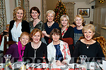 Enjoying Women's Christmas at the Meadowlands Hotel, Tralee on Saturday night last were front l-r: Mary Moran, Theresa Cahill, Betty Jameson and Deirdre Donaghy. Back l-r: Helen O'Sullivan Sheila O'Rahilly, Hilary Williams, Noreen Keane and Kitty Switzer.