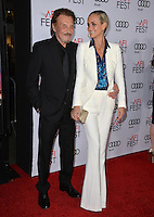 LOS ANGELES, CA. November 10, 2016: French actor/singer Johnny Hallyday &amp; actress wife Laeticia Hallyday at World Premiere of &quot;Rules Don't Apply&quot;, part of the AFI Fest 2016, at the TCL Chinese Theatre, Hollywood.<br /> Picture: Paul Smith/Featureflash/SilverHub 0208 004 5359/ 07711 972644 Editors@silverhubmedia.com