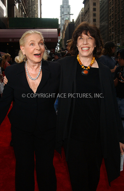 "WWW.ACEPIXS.COM . . . . . ....JUNE 4 2006, New York City......LILY TOMLIN AND LAUREN BECALL arriving at the New York Premiere of ""A Prairie Home Companion"" at the DGA Theatre....Please byline: KRISTIN CALLAHAN - ACEPIXS.COM.. . . . . . ..Ace Pictures, Inc:  ..(212) 243-8787 or (646) 679 0430..e-mail: picturedesk@acepixs.com..web: http://www.acepixs.com"