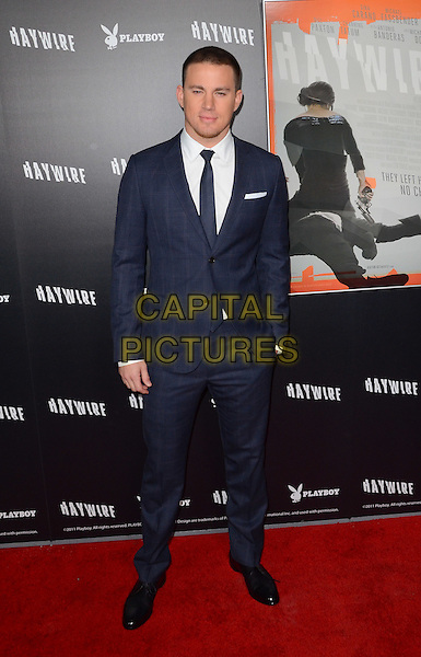 Channing Tatum.The L.A. Premiere of 'Haywire' held at The DGA in West Hollywood, California, USA..January 5th, 2012.full length white shirt tie blue suit.CAP/ADM/TW.©Tonya Wise/AdMedia/Capital Pictures.