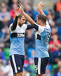 Niko Kranjcar celebrates with Harry Forrester