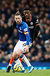 Callum Hudson-Odoi of Chelsea and Gylfi Sigurdsson of Everton during the Premier League match at Goodison Park, Liverpool. Picture date: 7th December 2019. Picture credit should read: Simon Bellis/Sportimage