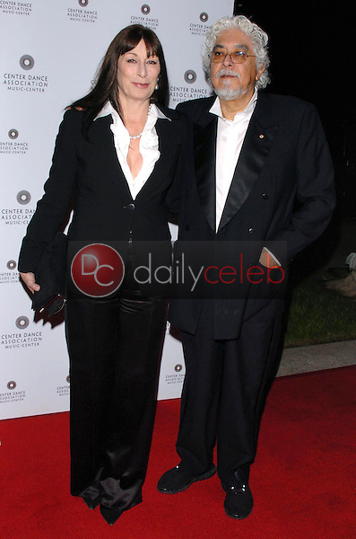 """Anjelica Huston and husband Robert<br />at the """"Thrill. Then Chill."""" After Party. Dorothy Chandler Pavilion, Los Angeles, CA. 02-24-06<br />Dave Edwards/DailyCeleb.com 818-249-4998"""