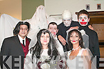 7799-7806.---------.Scary wedding.-------------.Soaking up the halloween athmosphere in Gallys bar/restaurant Tralee last Friday night were(front)L-R Myra O Sullivan and Trish Goodall(back)Joe Keane,Brendan Meehan,Vincent O Sullivan,Shane Fitzgerald and Danny O Shea.   Copyright Kerry's Eye 2008