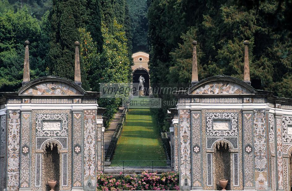 Europe/Italie/Lac de Come/Lombardie/Cernobbio : Villa d'Este (XVI°) - Les jardins