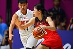 Moe Nagata (JPN), <br /> AUGUST 15, 2018 - Basketball : Women's Qualification round match between Hong Kong 44-121 Japan at Gelora Bung Karno Basket Hall A during the 2018 Jakarta Palembang Asian Games in Jakarta, Indonesia.<br /> (Photo by MATSUO.K/AFLO SPORT)