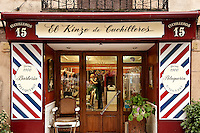 Barber shop, Madrid, Spain