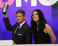 NEW YORK, NY-July 28:  Robert Simonds, Mila Kunis at STX Entertainment '& Bad Moms' cast  Ring The NASDAQ Closing Bell at Time Square New York. NY July 28, 2016. Credit:RW/MediaPunch