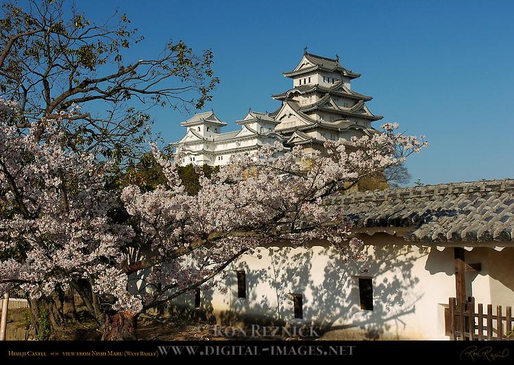 Himeji Castle from Nishi-no-Maru West Bailey Shirasagi-jo White Heron Castle Himeji Japan