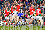 Peter Crowley Kerry in action against Donal Vaughan Mayo in the National Football League in Austin Stack Park on Sunday..
