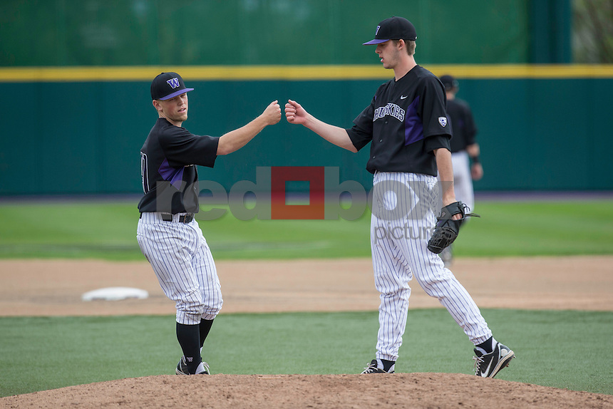 The University of Washington men's baseball team plays the University of California at Husky Ballpark on Sunday, April 28, 2013.  (Photography by Red Box Pictures)