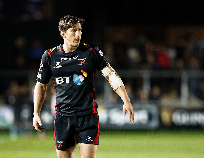 Carl Meyer of Newport Gwent Dragons<br /> <br /> Photographer Simon King/CameraSport<br /> <br /> Guinness PRO12 Round 5 - Newport Gwent Dragons v Glasgow Warriors - Friday 30th September 2016 - Rodney Parade - Newport<br /> <br /> World Copyright &copy; 2016 CameraSport. All rights reserved. 43 Linden Ave. Countesthorpe. Leicester. England. LE8 5PG - Tel: +44 (0) 116 277 4147 - admin@camerasport.com - www.camerasport.com