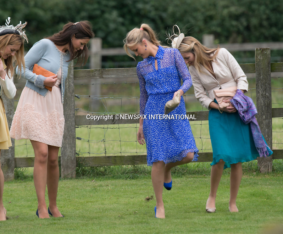 PRINCE WILLIAM &amp; PRINCE HARRY ATTEND LADY LAURA MARSHAM AND JAMES MEADE WEDDING<br /> The wedding was held at Saint Nicholas Church, Gayton, Norfolk_14/09/2013<br /> Picture Shows; Astrid Harbord and friends<br /> Mandatory Credit Photo: &copy;Dias/NEWSPIX INTERNATIONAL<br /> <br /> **ALL FEES PAYABLE TO: &quot;NEWSPIX INTERNATIONAL&quot;**<br /> <br /> IMMEDIATE CONFIRMATION OF USAGE REQUIRED:<br /> Newspix International, 31 Chinnery Hill, Bishop's Stortford, ENGLAND CM23 3PS<br /> Tel:+441279 324672  ; Fax: +441279656877<br /> Mobile:  07775681153<br /> e-mail: info@newspixinternational.co.uk