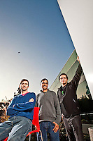Sheth, Sillace, Horowitz - Google pictures: Executive portrait photography of Rajen Sheth, Sam Sillace, & Bradley Horowitz of Google by San Francisco corporate photographer Eric Millette