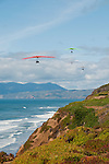 Hang gliding, hang glider, Fort Funston, San Francisco, California, USA.  Photo copyright Lee Foster.  Photo # california108443