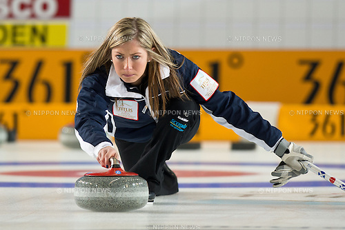 Eve Muirhead (SCO), MARCH 20, 2013 - Curling : World  Women's Curling  Championship 2013 at Volvo Sport Center, Riga, Latvia, (Photo by Enrico Calderoni/AFLO SPORT)